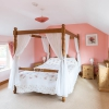 Coachman's Cottage, four poster bed, landscape
